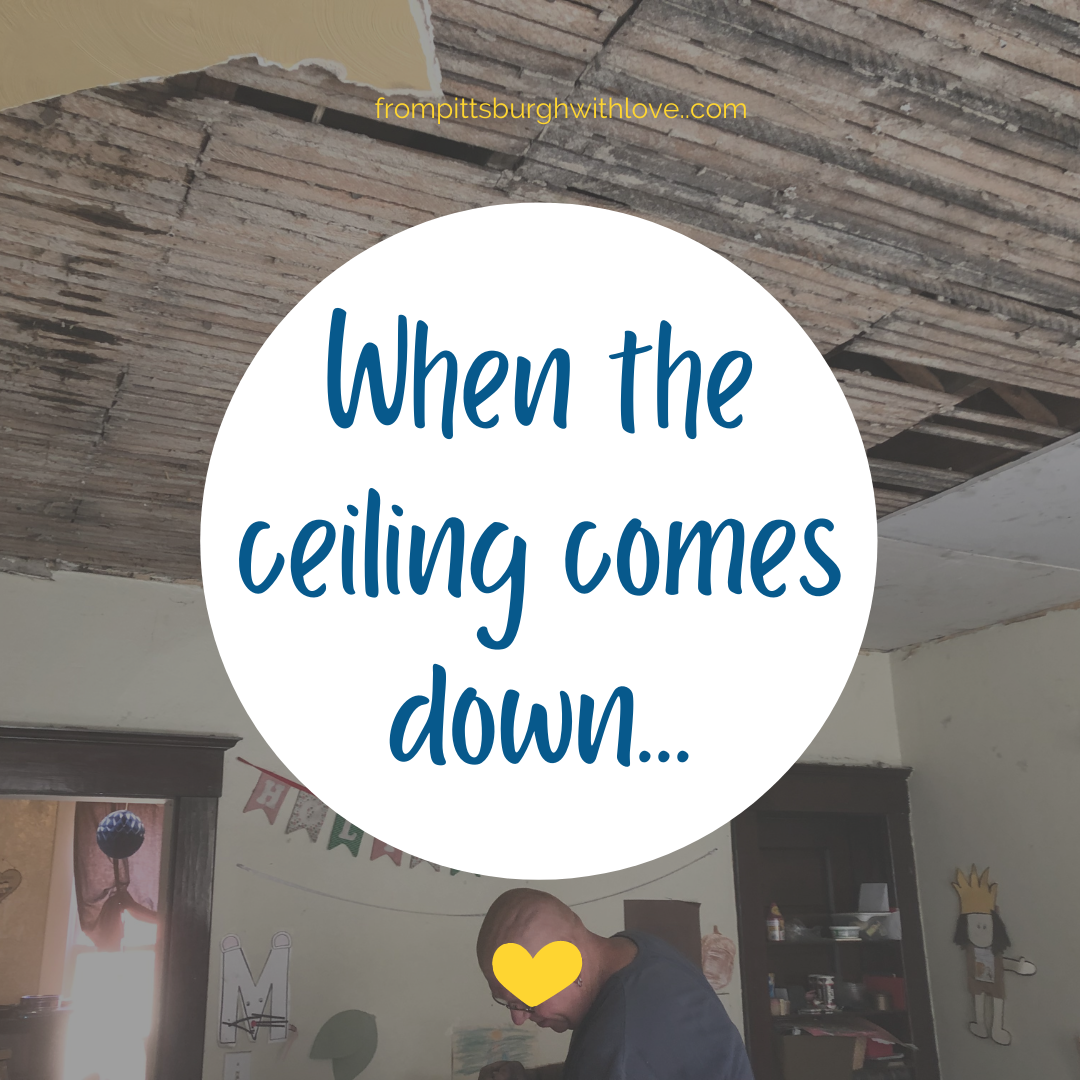When the ceiling comes down...